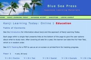 Kanji Learning Today: Online 1