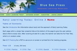 Kanji Learning Today: Online 3